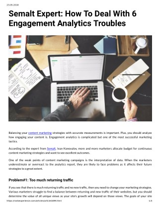 Semalt Expert: How To Deal With 6 Engagement Analytics Troubles