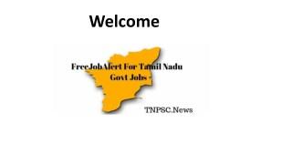 Get FreeJobAlert for Tamil Nadu Govt Jobs 2018-19 | TN Govt Jobs Alert