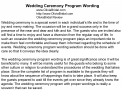 Wedding Ceremony Program Wording