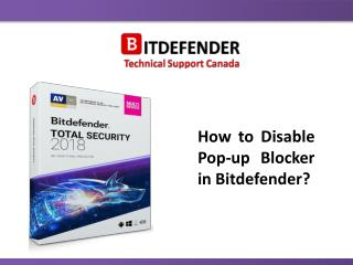 How to Disable Pop-up Blocker in Bitdefender?