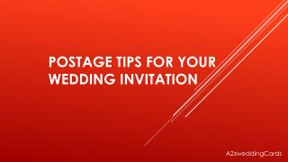 Postage Tips For Your Wedding Invitation