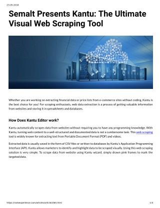 PPT - Semalt Presents Kantu: The Ultimate Visual Web