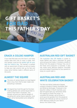 Gift Hampers For Dad This Father's Day