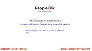 People qlik #1 hr, payroll ; performance management software in saudi arabia