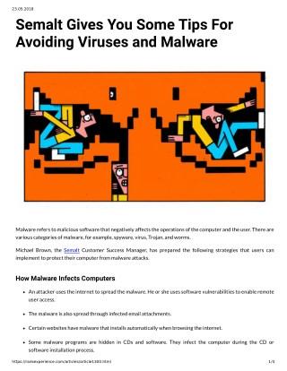 Semalt Gives You Some Tips For Avoiding Viruses and Malware