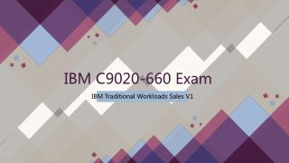 2018 Valid C9020-660 IBM Exam Dumps IT-Dumps