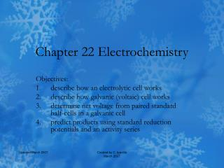 Chapter 22 Electrochemistry
