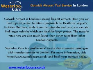 Gatwick Airport Taxi Service