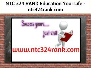 NTC 324 RANK Education Your Life / ntc324rank.com