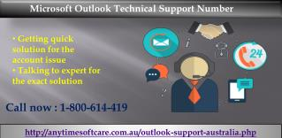Microsoft Outlook Technical Support Number 1-800-614-419| Eradicate Login Issue