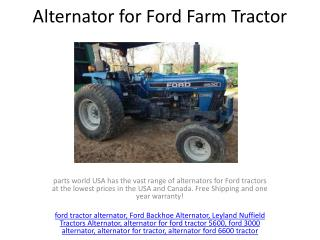 Alternator for Ford Farm Tractor