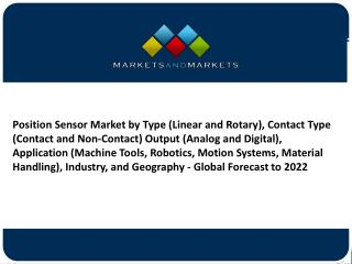 Position sensor market is expected to reach USD 5.98 Billion by 2022- Experts review