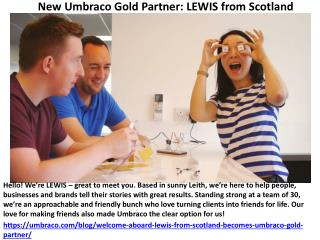 Welcome aboard! LEWIS from Scotland becomes Umbraco Gold Partner
