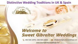 Distinctive Wedding Traditions in UK & Spain