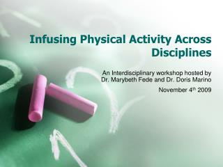 Infusing Physical Activity Across Disciplines