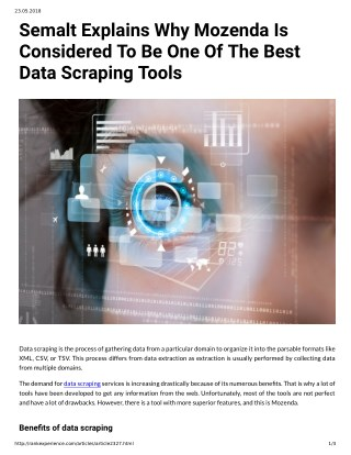 Semalt Explains Why Mozenda Is Considered To Be One Of The Best Data Scraping Tools