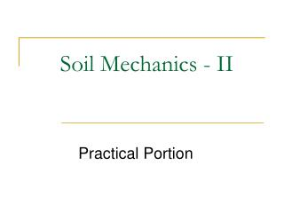 Soil Mechanics - II