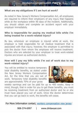 Frequently Asked Questions About Workers Compensation