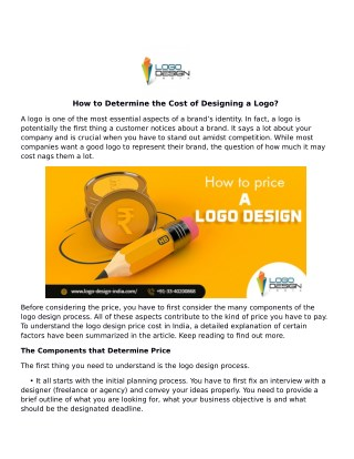 How to Determine the Cost of Designing a Logo?