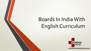 Boards In India With English Curriculum