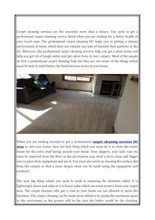 Tips to prepare for the carpet cleaning visit at home