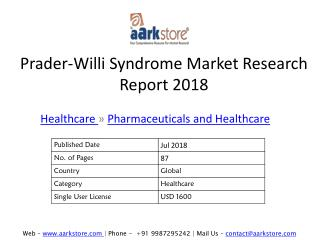 Prader-Willi Syndrome Market Research Report 2018