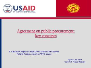 Agreement on public procurement :  key concepts