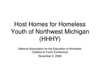 Host Homes for Homeless Youth of Northwest Michigan (HHHY)