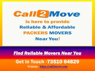 Get Best Moving Quotes from Verified Packers Movers