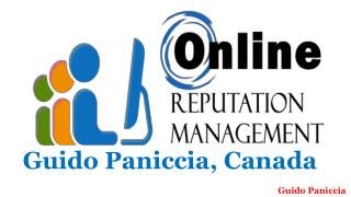 Guido Paniccia the best reputation management agency in Canada