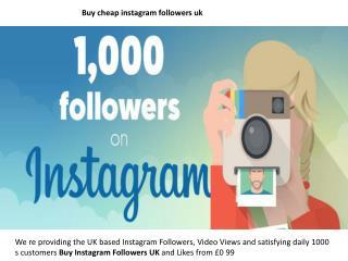 buy cheap instagram followers uk