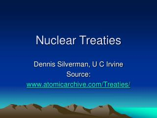 Nuclear Treaties