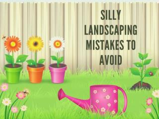 5 Silly Landscaping Mistakes to Avoid