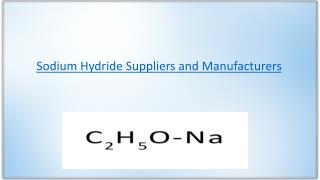 Sodium hydride manufacturers and suppliers