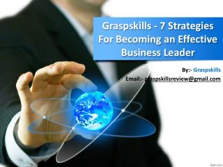 $Graspskills Best Strategies For Becoming An Effective Business Leader
