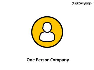 Introduction of One Person Company | Documents Checklist