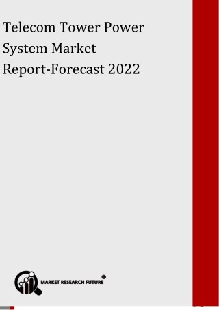 Telecom Tower Power System Market