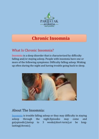 Chronic Insomnia treatment in India