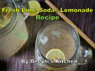 Fresh lime soda / Lemonade Recipe