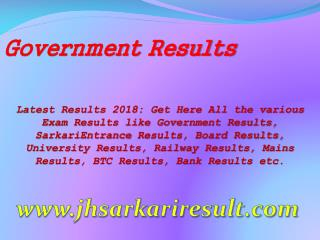 Government Results