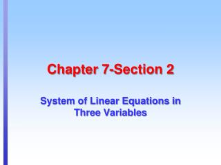 Chapter 7-Section 2