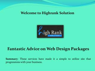 SEO pricing packages, social media packages, Web design packages