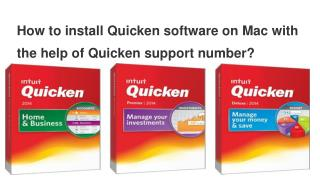 How to install Quicken software on Mac with the help of Quicken support number