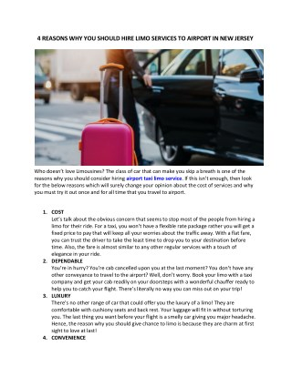 Reason why you should hire limo service