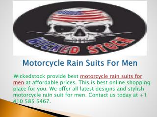 Motorcycle Rain Suits For Men