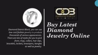 Latest Diamond Jewelry Designs