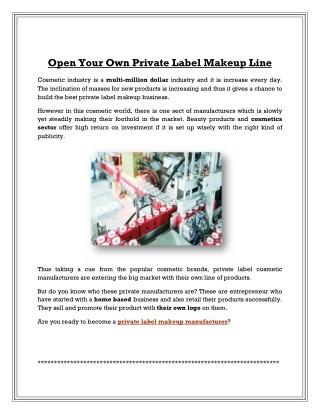 Become a Private Label Cosmetic Manufacturer | Aurora Cosmetics
