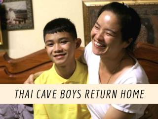 Thai cave boys return home