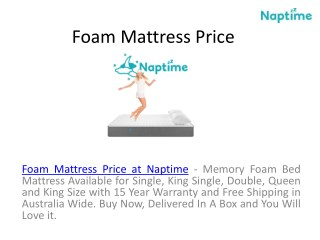 Memory Foam Mattress Prices at Naptime