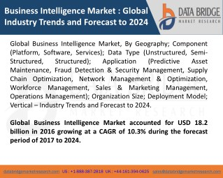 Global Business Intelligence Market – Industry Trends and Forecast to 2024